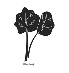 Rhubarb iconblacksimple icon vector