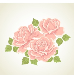 Roses with flowers bouquet vector