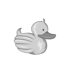Rubber duck icon black monochrome style vector
