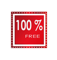 Sale 100 free banner design over a white vector