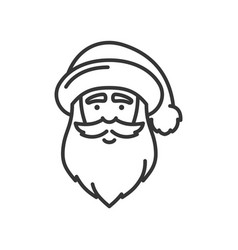 santa claus face icon christmas and new year vector image