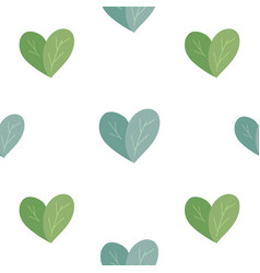 seamless flat pattern with simple hearts from vector image
