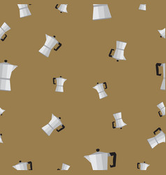 Seamless pattern with coffee percolator vector