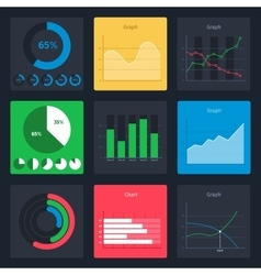 Set of business charts vector image