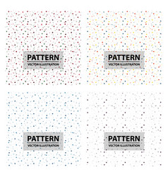 Set of color circle chaotic pattern circle vector