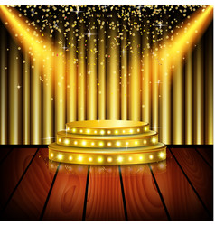 Spotlight of shining on stage background vector