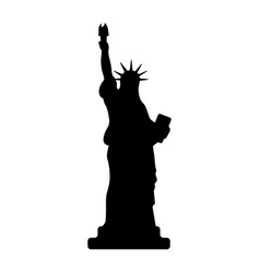 statue of liberty icon happy 4 th july and vector image