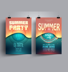 Summer party flyer or poster layout template vector