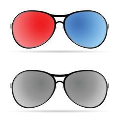 sunglasses color art vector image
