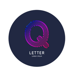 the letter q latin alphabet display vector image