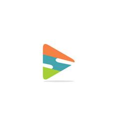 triangle s initial company logo vector image