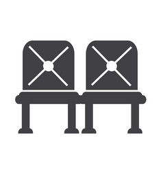 Waiting sign airport seat icon vector
