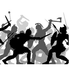 warrior battle cutout vector image