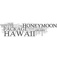 what your hawaii honeymoon package should include vector image