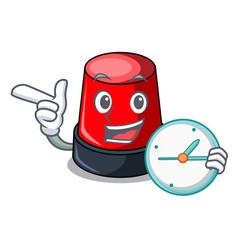 with clock sirine character cartoon style vector image