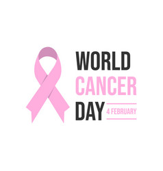 world awareness ribbon of cancer vector image