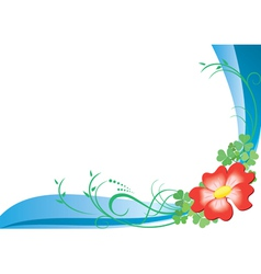 card with red flower vector image vector image