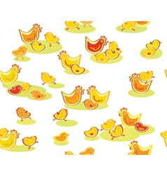 chickens pattern vector image