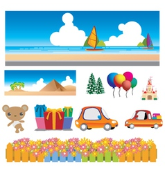 Colorful cartoons vector