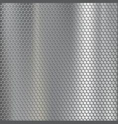 geometric metallic texture steel mesh industrial vector image
