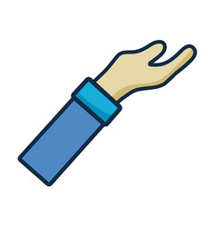 man arm hand up icon vector image