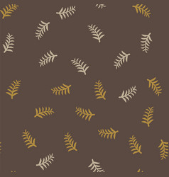 pattern tree branches on brown background twig vector image vector image