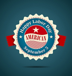 Ribbon labor day american design vector image vector image