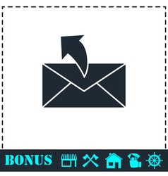 Sending mail icon flat vector