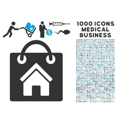 Buy Home Icon with 1000 Medical Business vector image vector image