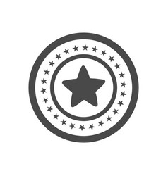 champion trophy icon with star isolated on white vector image vector image