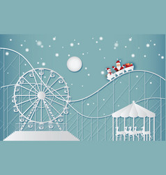 happy new year and merry christmas on amusement vector image vector image
