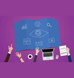 visual marketing eye concept vector image vector image