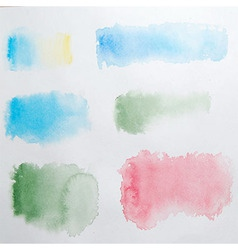 Abstract Watercolor Splashes Set vector image vector image