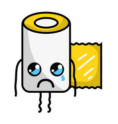 Kawaii cute crying gauze medical tool vector