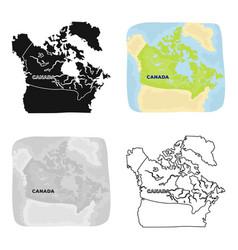map of canada canada single icon in cartoon style vector image vector image