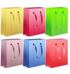 Shopping bag set vector image vector image