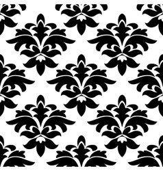 Vintage floral black and white arabesque seamless vector image