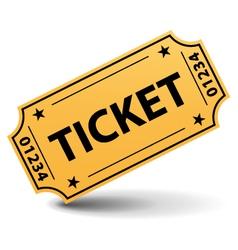 Yellow ticket vector