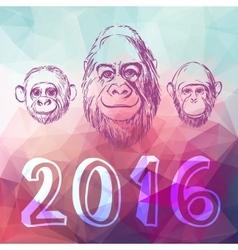 Abstract postcard 2016 vector image