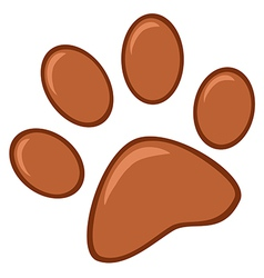 Brown Paw Print vector image