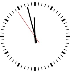 Clock isolated vector image vector image