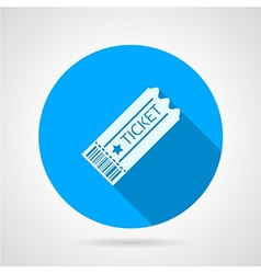 Flat icon for ticket vector image