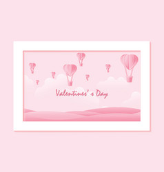 love and valentine day on sweet background vector image vector image