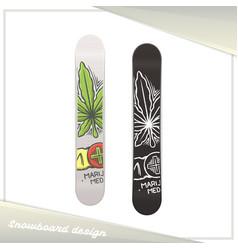 Medical marijuana snowboard two vector