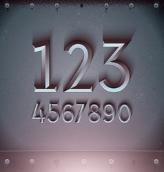 Metal Embossed Numbers vector image