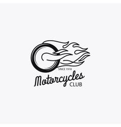 Motorcycle club mono color logotype vector image vector image
