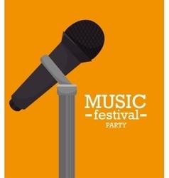 music festival design vector image