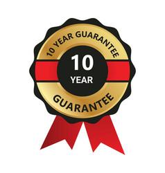 10 year guarantee badge guarantee certificate vector