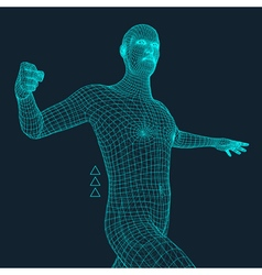 3D Model of Man Geometric Design Business Science vector