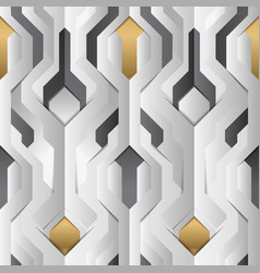 abstract geometric decor stripes white and golden vector image